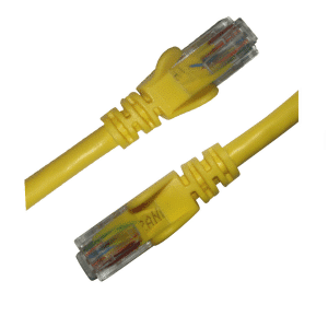 cat6 yellow patch leads picture main