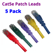 CAT5e Blue Green Purple Yellow Red patch leads